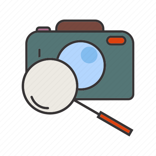 camera, image, magnifier, photo, picture, search icon