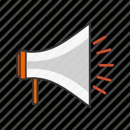 announcement, megaphone, seo, speaker icon