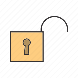 open, security, seo, unlocked icon