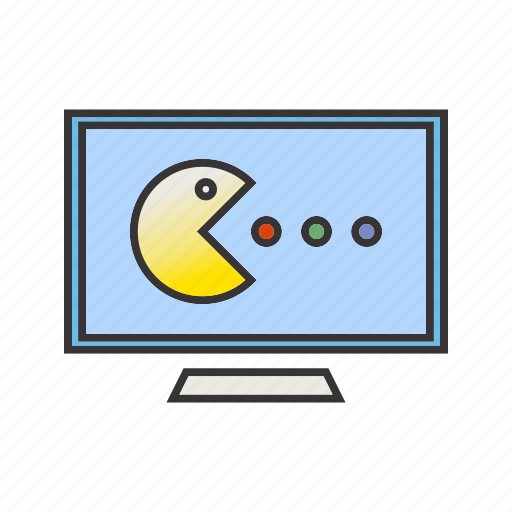 pacman, screen, seo, videogame icon