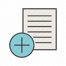 add, document, file, notes, seo icon