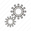 advanced, gear, options, seo, settings icon