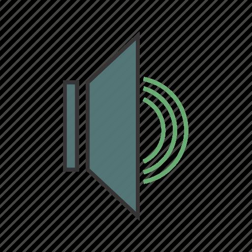 audio on, music, seo, sound, volume icon