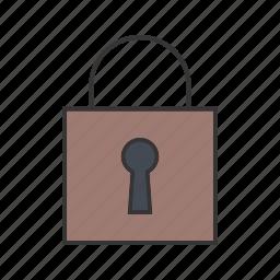 closed, lock, padlock, security icon