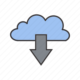 cloud, data, download, internet, seo icon
