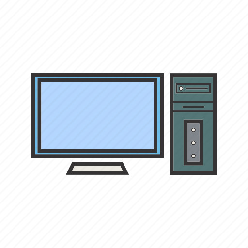 computer, pc, screen, seo icon