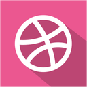 dribbble, media, set, shadow, social icon