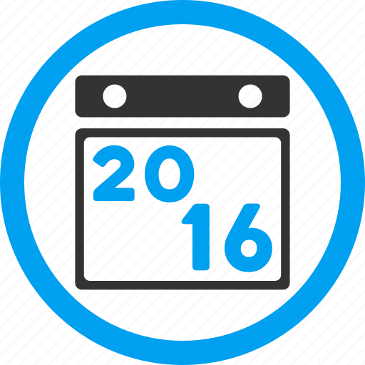 appointment, calendar page, diary, poster, schedule, year 2016 icon