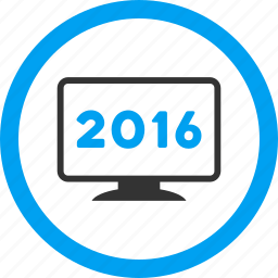 computer, desktop, electronic device, monitor, pc display, screen, year 2016 icon