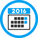 appointment, calendar, month, organizer, schedule, time table, year 2016 icon
