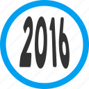 future, label, message, new year, perspective, text, year 2016 icon