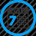 calendar, grid, organizer, schedule, time table, week, year 2016 icon