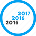 annual, calendar, from 2016, future, level, to 2017, years icon