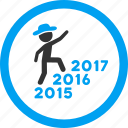 climb, gentleman, new year, steps, track, walking, years icon