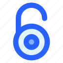 key, privacy, security, unlock, unlocked icon