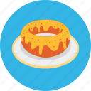 dessert, donut, food, meal, sweet, tasty icon
