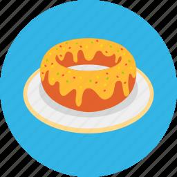 dessert, donut, food, meal, sweet, tasty icon
