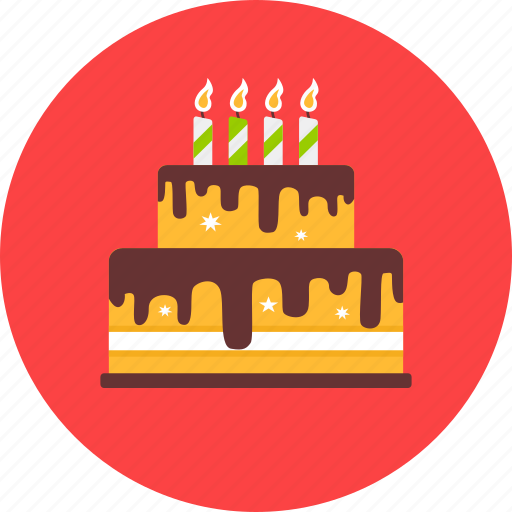 bakery, birthday, cake, chocolate, dessert, party icon
