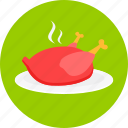 chicken, dinner, eating, food, meal, restaurant icon