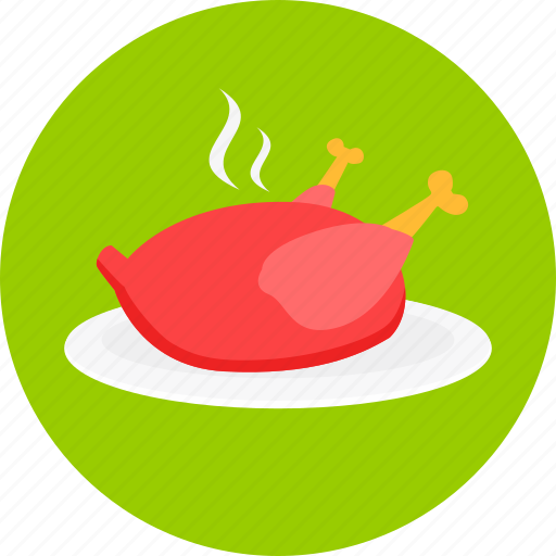 Chicken, dinner, eating, food, meal, restaurant icon - Download on Iconfinder
