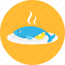 dinner, eating, fish, food, meal, sea, seafood icon