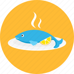 dinner, eating, fish, food, meal, sea, seafood icon