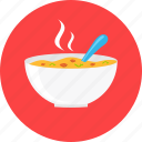 eating, food, hot, plate, restaurant, soup, warm icon