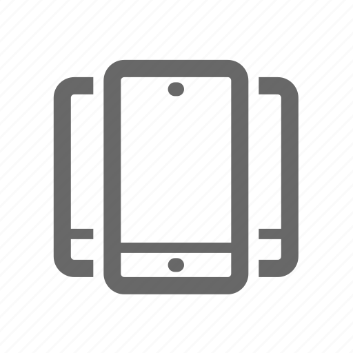 Mobile, screen, device, computer, responsive, technology icon