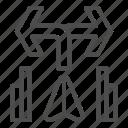 arrow, turn, traffic, signal, movement, pointer, direction