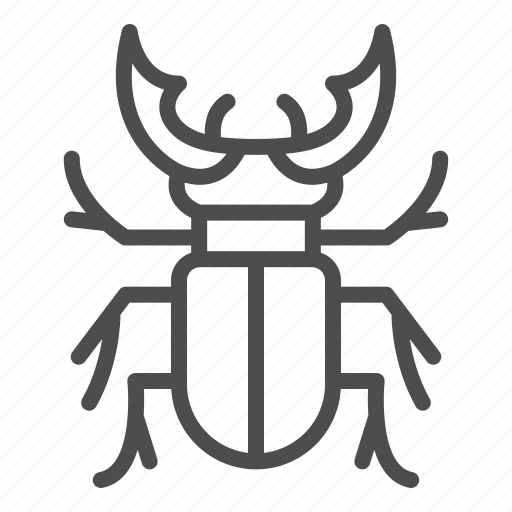 Beetle, insect, nature, deer, bug, stag, horn icon - Download on Iconfinder