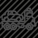 tow, truck, car, auto, traffic, rescue, platform