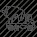 truck, concrete, construction, mixer, vehicle, transport, industrial