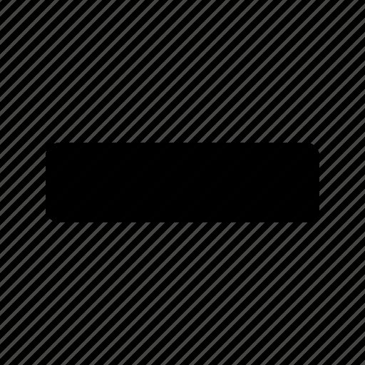 delete, less, minimize, minus, remove, sign icon