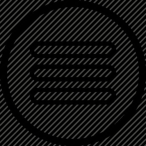 control, media, menu, player, remote, round icon