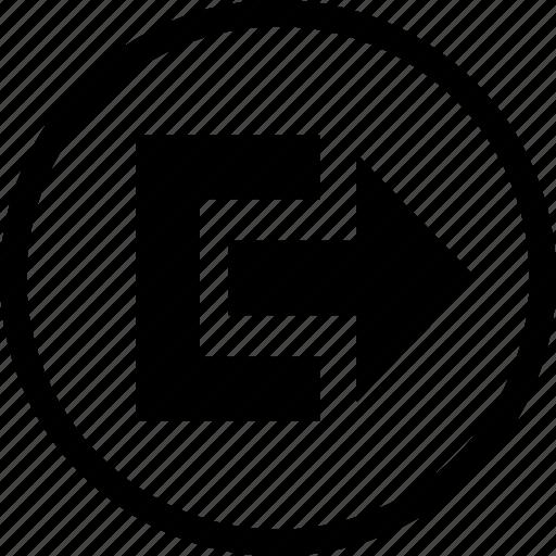 control, exit, media, player, remote, round icon