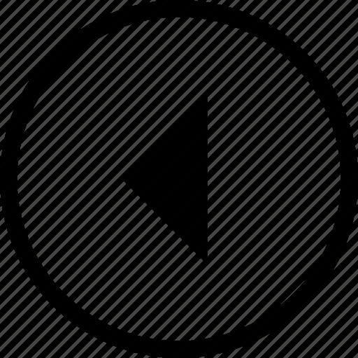 control, left, media, player, remote, round icon