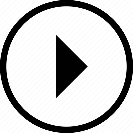 control, media, player, remote, right, round icon