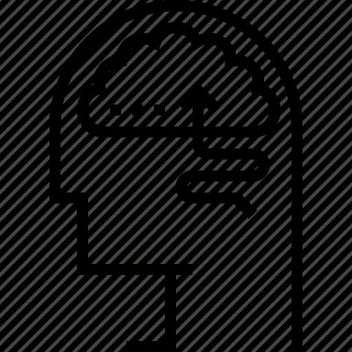 experience, instinct, smart, think icon