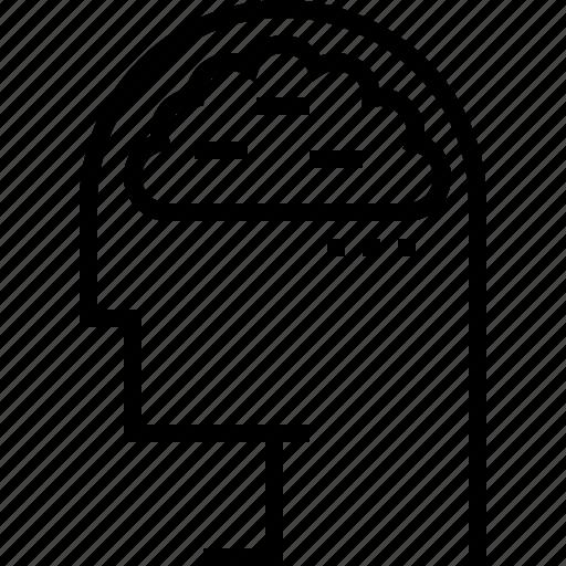 brain, mind, negative, thinking icon
