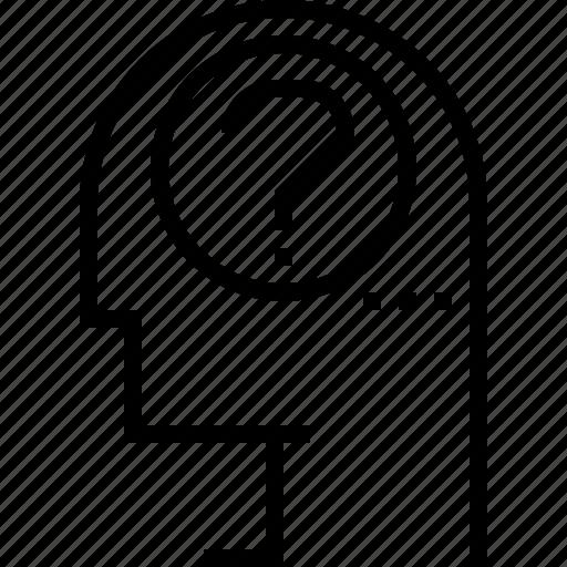 concern, doubt, problem, question icon