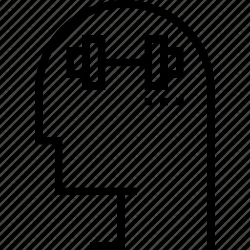 exercise, mind, strong, training icon