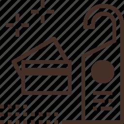 card, hostel, hotel, key, stay icon