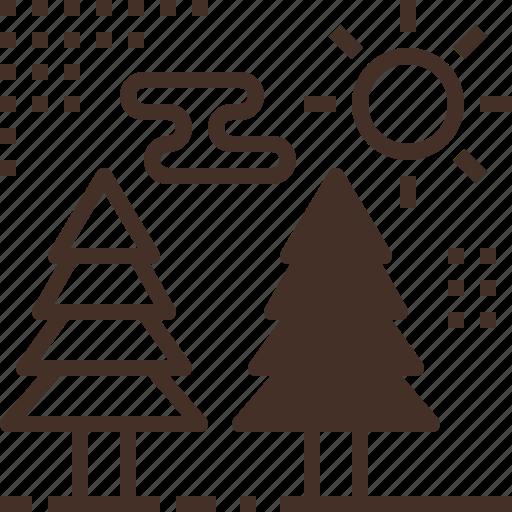 forest, pine, tree, trekking icon