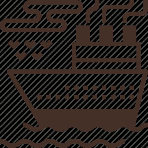 cruise, sea, ship, transportation, travel icon