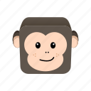 animal, cartoon, game, monkey icon