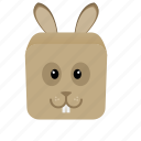 animal, cartoon, game, rabbit icon