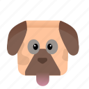 animal, cartoon, dog, game icon