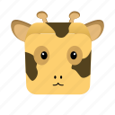 animal, cartoon, game, giraffe icon