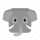cartoon, elephant, game icon