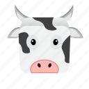 animal, cartoon, cow, game icon